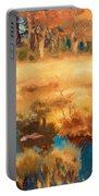 Autumn Landscape With Fox Portable Battery Charger