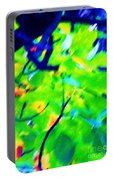 Autumn Leaf Abstract Portable Battery Charger
