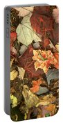 Colorful Autumn Leaves In Blue Green Red Yellow Orange Portable Battery Charger