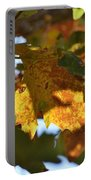 Autumn Leaves Macro 2 Portable Battery Charger