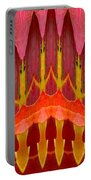 Autumn Leaves Polar Coordinate Abstract Portable Battery Charger