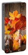 Autumn Leaves Still Life Portable Battery Charger