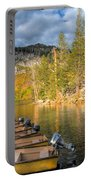 Autumn Light At The Lake Portable Battery Charger