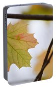 Autumn Maple Leaves Horizontal Portable Battery Charger