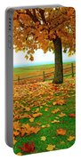Autumn Maple Tree And Leaves Portable Battery Charger