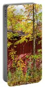 Autumn Michigan Barn  Portable Battery Charger