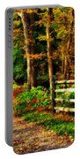 Autumn Moment - Allaire State Park Portable Battery Charger