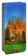 Autumn Moon Rising Portable Battery Charger