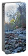 Autumn Morning Along The Wissahickon Creek Portable Battery Charger