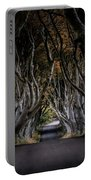 Autumn Morning At Dark Hedges Alley  Portable Battery Charger