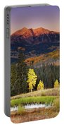Autumn Mountain Landscape, Colorado, Usa Portable Battery Charger