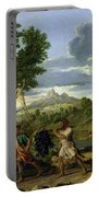 Autumn Portable Battery Charger by Nicolas Poussin