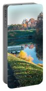 Autumn On Lake Inspiration Portable Battery Charger