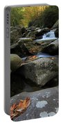 Autumn On Little River In The Smoky Mountains Portable Battery Charger