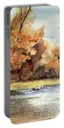 Autumn On The Buffalo Portable Battery Charger