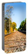 Autumn On The Railroad Portable Battery Charger by Parker Cunningham