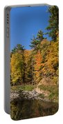 Autumn On The Riverbank - The Changing Forest Portable Battery Charger