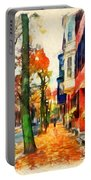 Autumn On The Streets Of Boston Portable Battery Charger