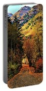 Autumn Path To Stewart Falls Portable Battery Charger