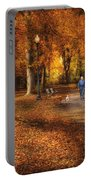 Autumn - People - A Walk In The Park Portable Battery Charger