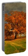 Autumn Picnic On The Hill Portable Battery Charger