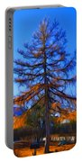 Autumn Pine Tree Portable Battery Charger