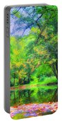 Autumn Pond In Gladwyne Portable Battery Charger by Bill Cannon