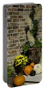 Autumn Porch Scene Portable Battery Charger