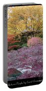 Autumn Purple Portable Battery Charger