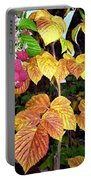 Autumn Raspberries Portable Battery Charger