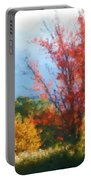 Autumn Red And Yellow Portable Battery Charger