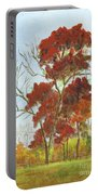 Autumn Red Portable Battery Charger
