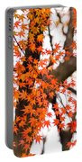Autumn Red Leaves On A Tree   Portable Battery Charger