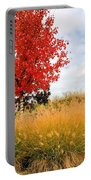 Autumn Red Maple Portable Battery Charger