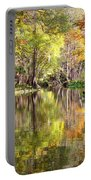 Autumn Reflection On Florida River Portable Battery Charger by Carol Groenen