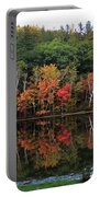 Autumn Reflections And Cabin On Baker Pond Portable Battery Charger