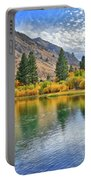Autumn Reflections At Intake Lake II Portable Battery Charger