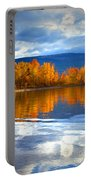 Autumn Reflections At Sunoka Portable Battery Charger