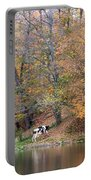 Autumn Reflections Cow Farm Portable Battery Charger
