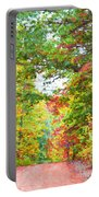 Autumn Road - Digital Paint Portable Battery Charger