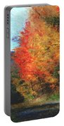 Autumn Roadside Portable Battery Charger