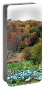 Autumn Rolling Hillside Farm Cabbage Harvest Portable Battery Charger