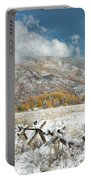 Autumn Snowfall In Aspen Portable Battery Charger