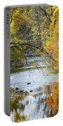 Autumn Stream Reflections Portable Battery Charger