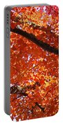 Autumn Tree Art Prints Orange Red Leaves Baslee Troutman Portable Battery Charger