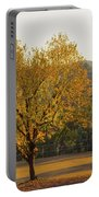 Autumn Tree At Sunset Portable Battery Charger