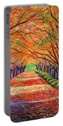 Autumn Tree Lane Portable Battery Charger