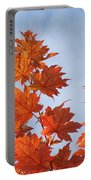Autumn Tree Leaves Art Prints Blue Sky White Clouds Portable Battery Charger