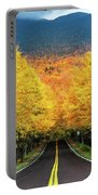 Autumn Tree Tunnel Portable Battery Charger