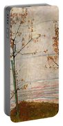 Autumn Trees Portable Battery Charger by Egon Schiele